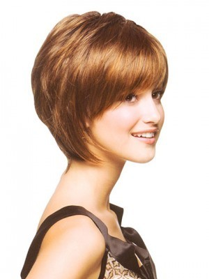 Bob Style Short Wig with a graceful fringe