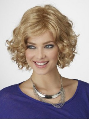 Chin Length Wavy Romantic Synthetic Bob Wig