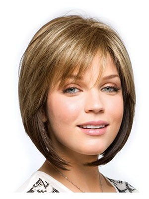 Monofilament Magnificent Human Hair Bob Wig