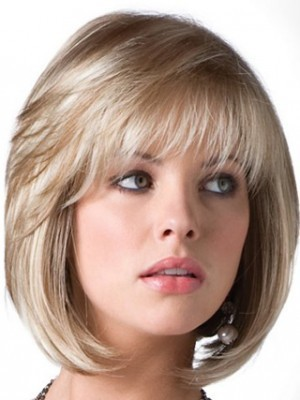 Bob Style Casual Long-Layered Gray Wig