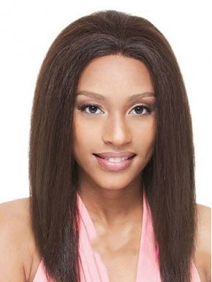 Outstanding Long Straight African American Full Lace Wigs for Women