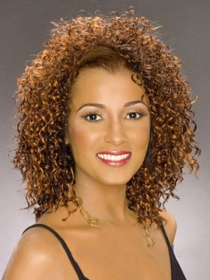Marvelous Short Curly Full Lace African American Wig