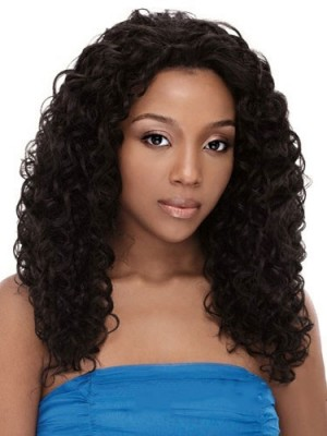 Perfect Long Curly African American Lace Wigs for Women 18 Inch