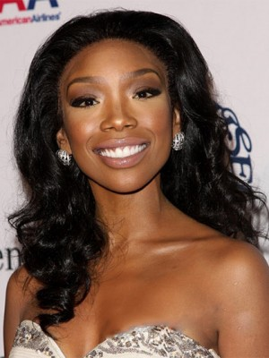 New Glamourous Long Curly Black African American Lace Wigs