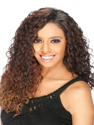 Marvelous Long Curly No Bang African American Lace Wigs for Women