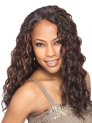 Top Quality Long Curly No Bang African American Lace Wigs for Women