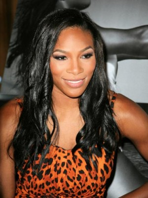 Mysterious Long Wavy Black African American Full Lace Wigs