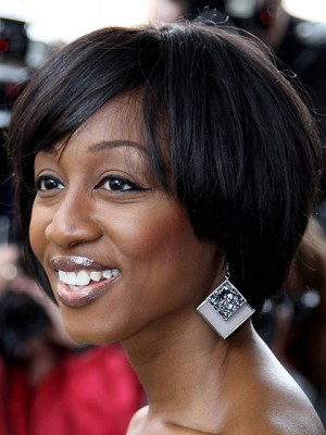 Gorgeous Short Straight African American Lace Wigs for Women 8 Inch