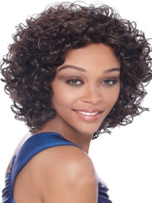 Dynamic Short Curly African American Lace Wigs for Women