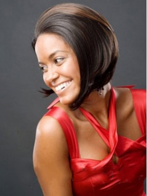 Gracefull Short Straight No Bang African American Wigs for Women