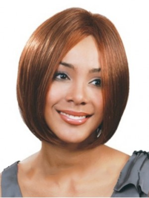 Dream Short Straight No Bang African American Lace Wigs for Women