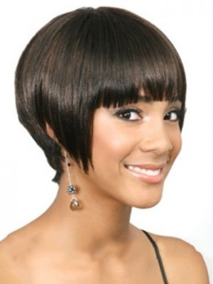 Wigs For Sale Short Straight Full Bang African American Wigs for Women