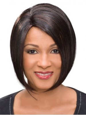 Gorgeous Short Straight African American Lace Wigs for Women