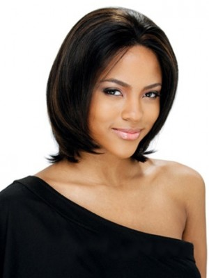 Brazil Short Straight Sepia African American Lace Wigs for Women