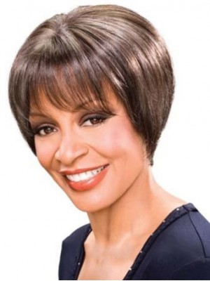 Popurlar Short Straight African American Wigs for Women