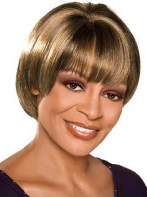 Lovely Short Straight African American Wigs
