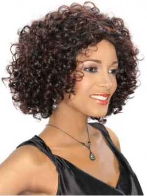Quality Wigs Short Curly Brown African American Lace Wigs