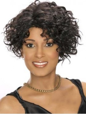 New Fashion Short Curly Sepia African American Lace Wigs