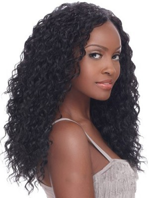 Top-rated Long Curly Black No Bang African American Lace Wigs