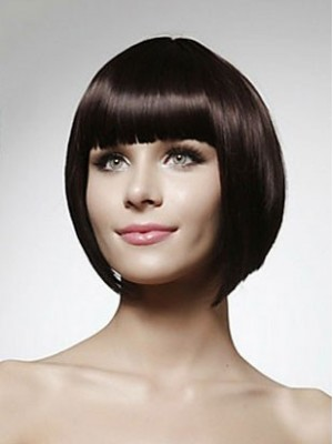 Straight Short Bob Synthetic Capless Wig