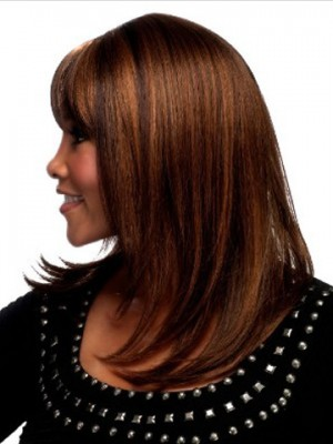 "14"" Capless Straight Synthetic Wig"