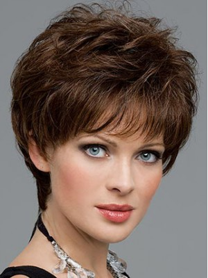 Short Wavy Lace Front Synthetic Wig