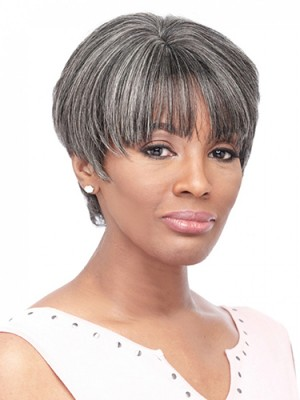 Morden Short Straight Capless Synthetic Wig