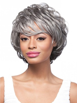 "8"" Short Straight Capless Synthetic Wig"