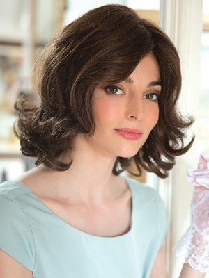 Natural 12 Inch Wavy Layered Synthetic Wigs