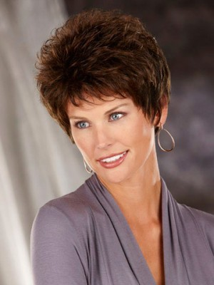 Short Synthetic Wig with Spiky Texture