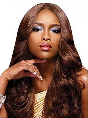 Shining Long Curly African American Lace Wig