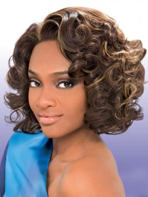 Pretty Lace Front Synthetic Medium Wavy Wig