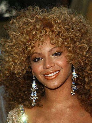 Beautiful Medium Curly Capless Synthetic Wig