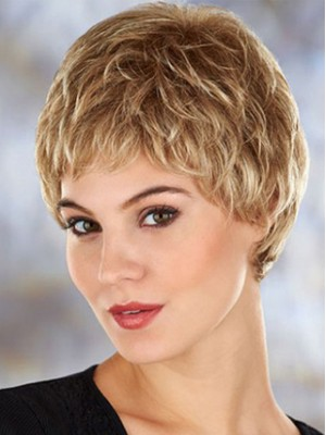 Latest Gorgeous Short Wavy Synthetic Lace Front Wig