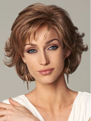 Short Wavy Layers Lace Front Wig