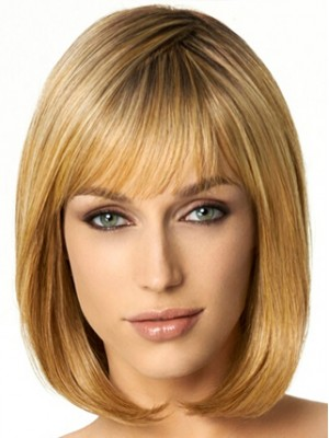 Blunt Cut To-The-Shoulder length Wig