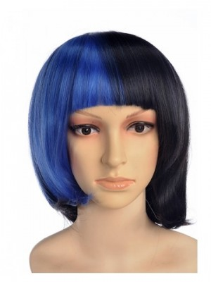 Jost Short Blue Black Wig Cosplay