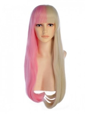 Lannur Long Blonde Pink Wig Cosplay