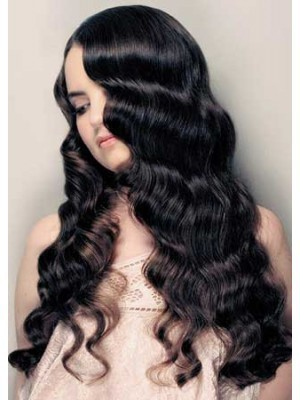 """100% Remy Human Hair 20"""" Wavy Lace Front Wig"""