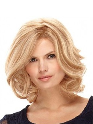 Short Curly Blond Full Lace Wig
