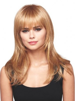 Lace Front With Full Bangs Lovely Long Wig