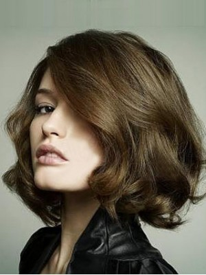 Hand Knotted Cut Bob Hairstyle Lace Wig