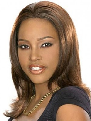Chic Medium Straight African American Wigs
