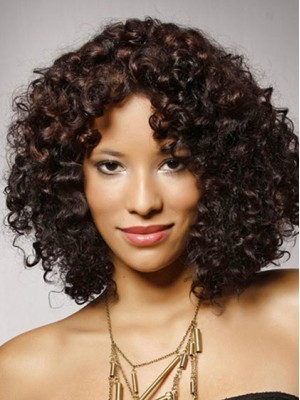 Glamorous Alison Haislip Hairstyle Curly Full Lace Wigs