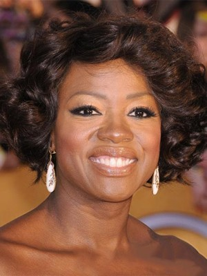 Admirable Viola Davis Hairstyle Wigs for Black Women