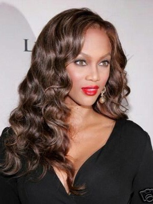 """18"""" Curly Synthetic Celebrity Wig"""