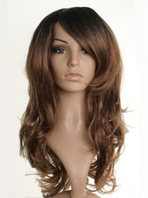 "24"" Fearne Cotton Wavy Synthetic Dip-Dye Wig"