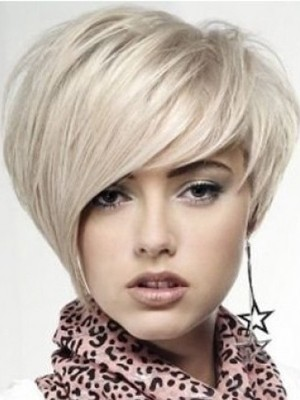 """10"""" Full Lace Straight Celebrity Grey Wig"""