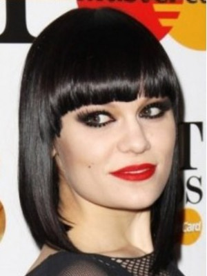A Jessie J Style Beautiful Black Bob Wig