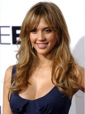 Jessica Alba- Long Wavy Fashion Wig